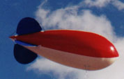 Helium advertising blimp - 14ft. RWB color
