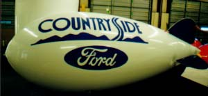 Advertising Blimp - Countryside Ford logo