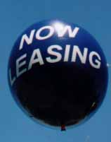 Advertising Balloon - 7ft. ball  - Now Leasing lettering